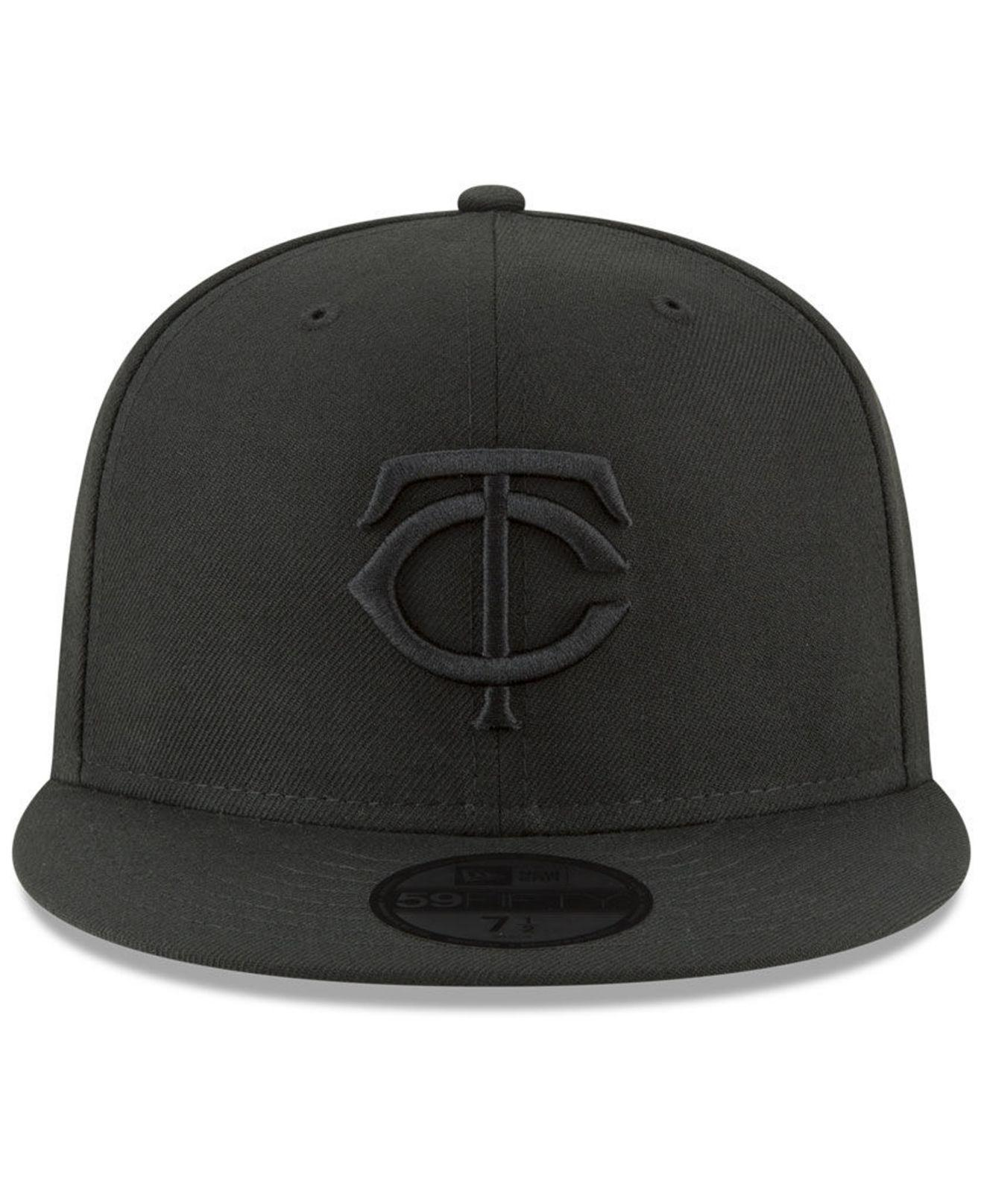 online store 8a93e f7a9b ... greece lyst ktz minnesota twins blackout 59fifty fitted cap in black  for men 930bb e2d07