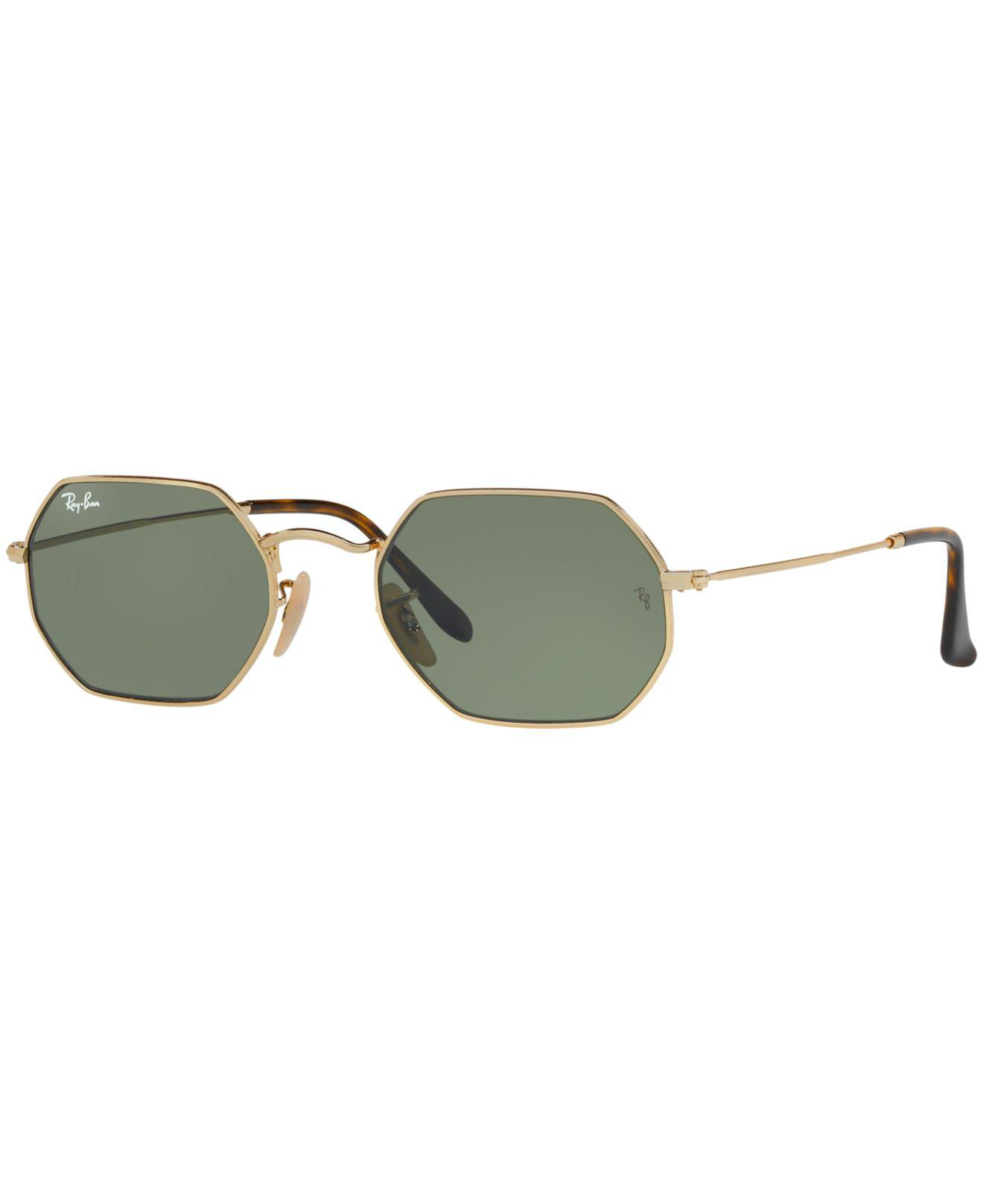 ece4228097 Ray-Ban. Women s Green Octagonal Flat Lens Sunglasses ...