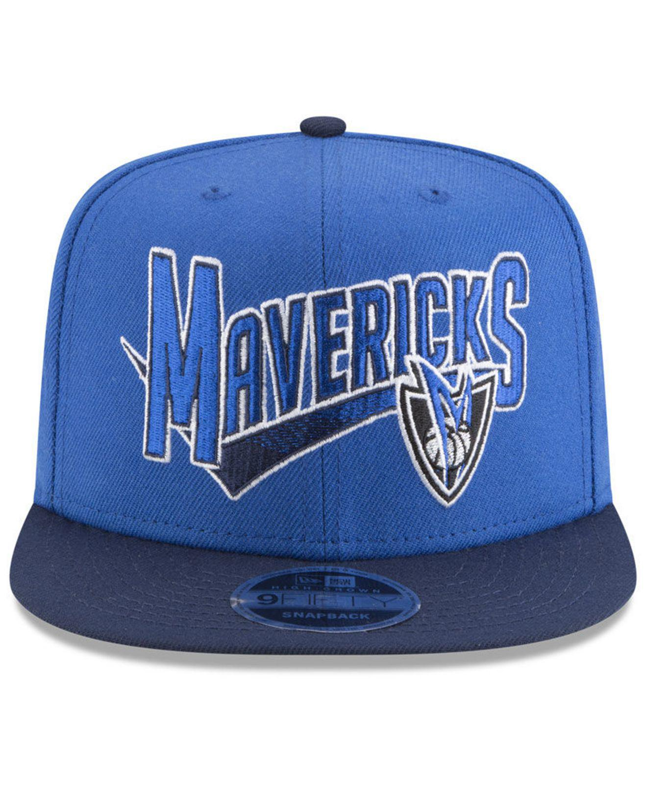 sports shoes 5f5ba 747b2 ... sweden lyst ktz dallas mavericks retro tail 9fifty snapback cap in blue  for men 65398 1a97b