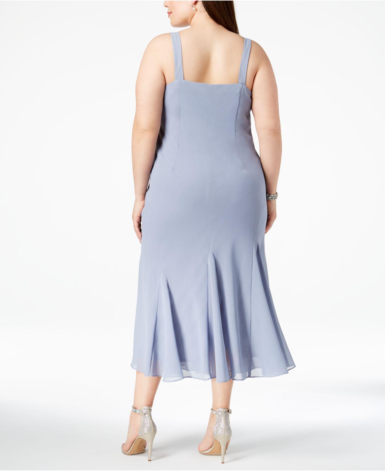 R & M Richards R&m Richards Plus Size Beaded V-neck Dress And Jacket ...