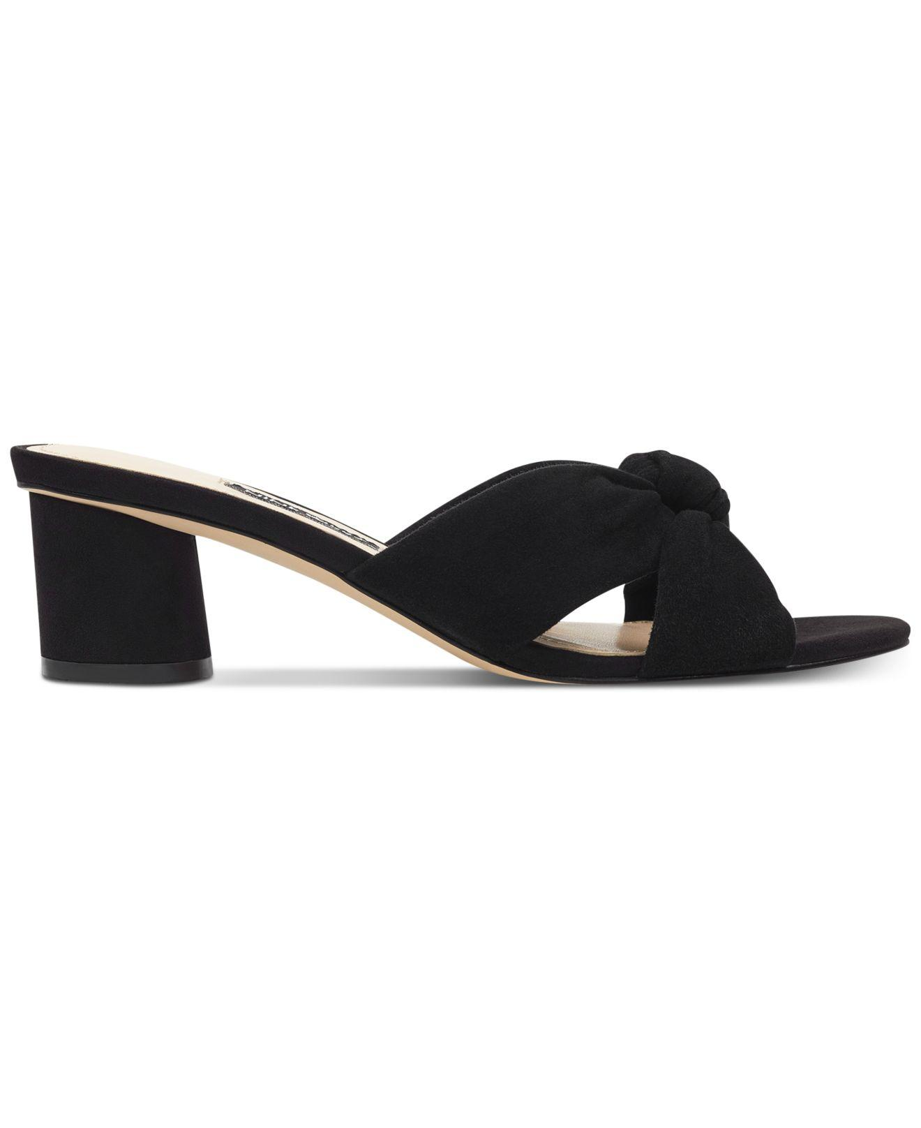 b0660f51a12 Lyst - Nine West Kayla Knotted Dress Sandals in Black