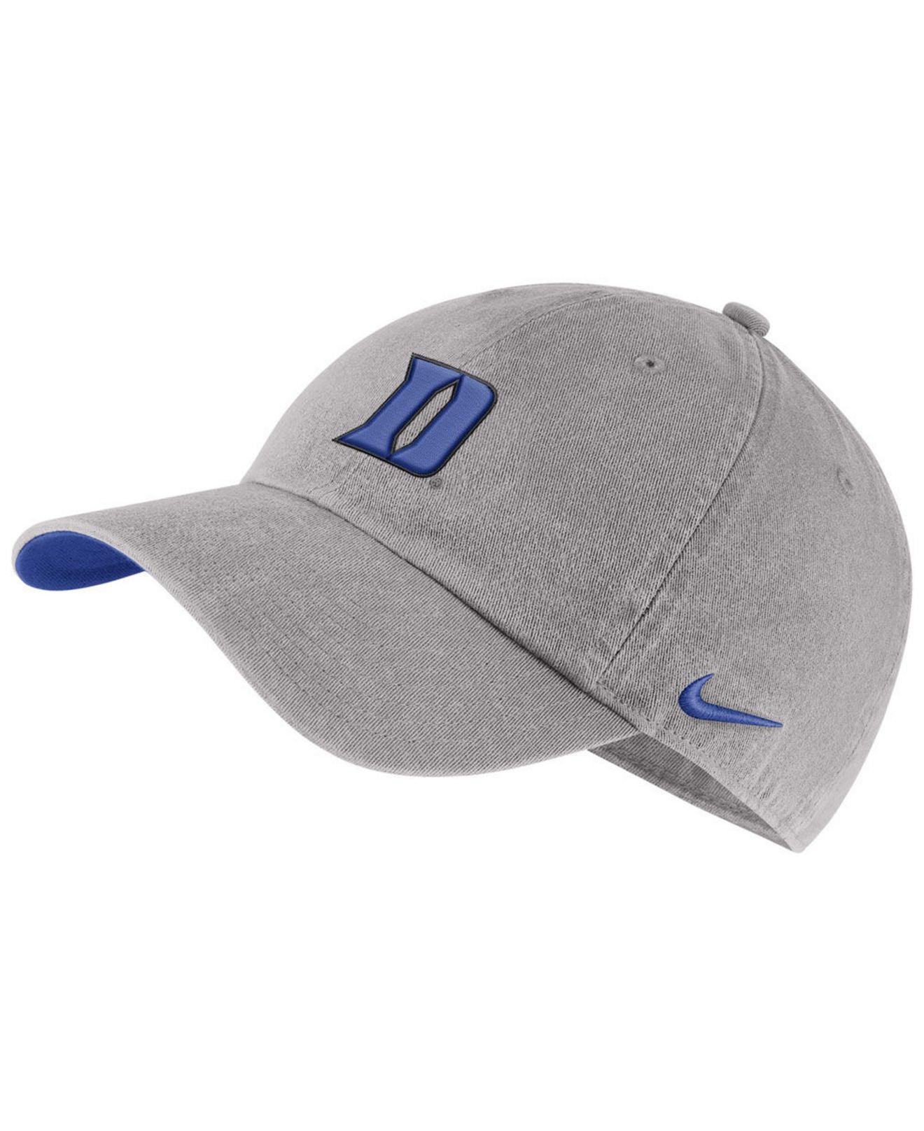 buy popular 81887 dcb99 Nike. Men s Gray Duke Blue Devils H86 Washed Strapback Cap