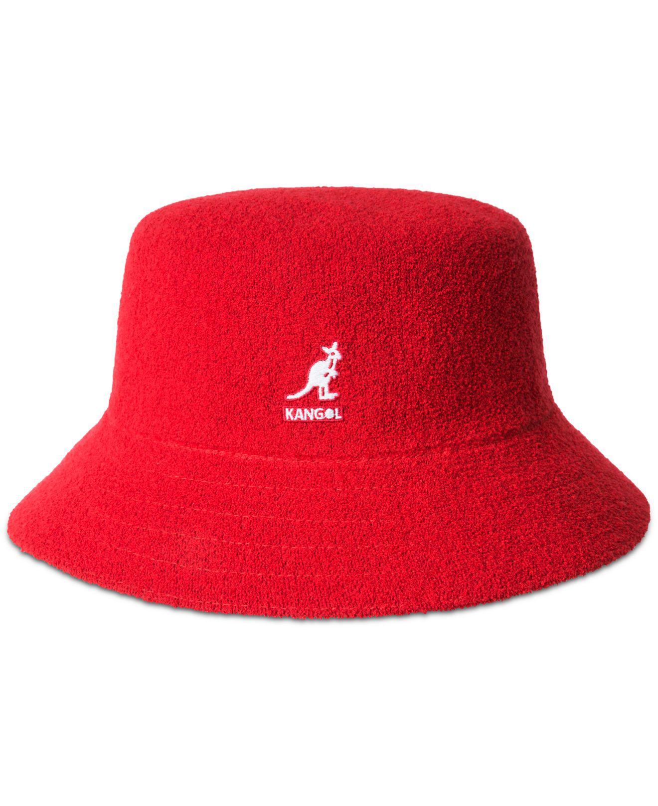 74b95fe680078 Kangol Bermuda Terry Bouclé Bucket Hat in Red for Men - Lyst