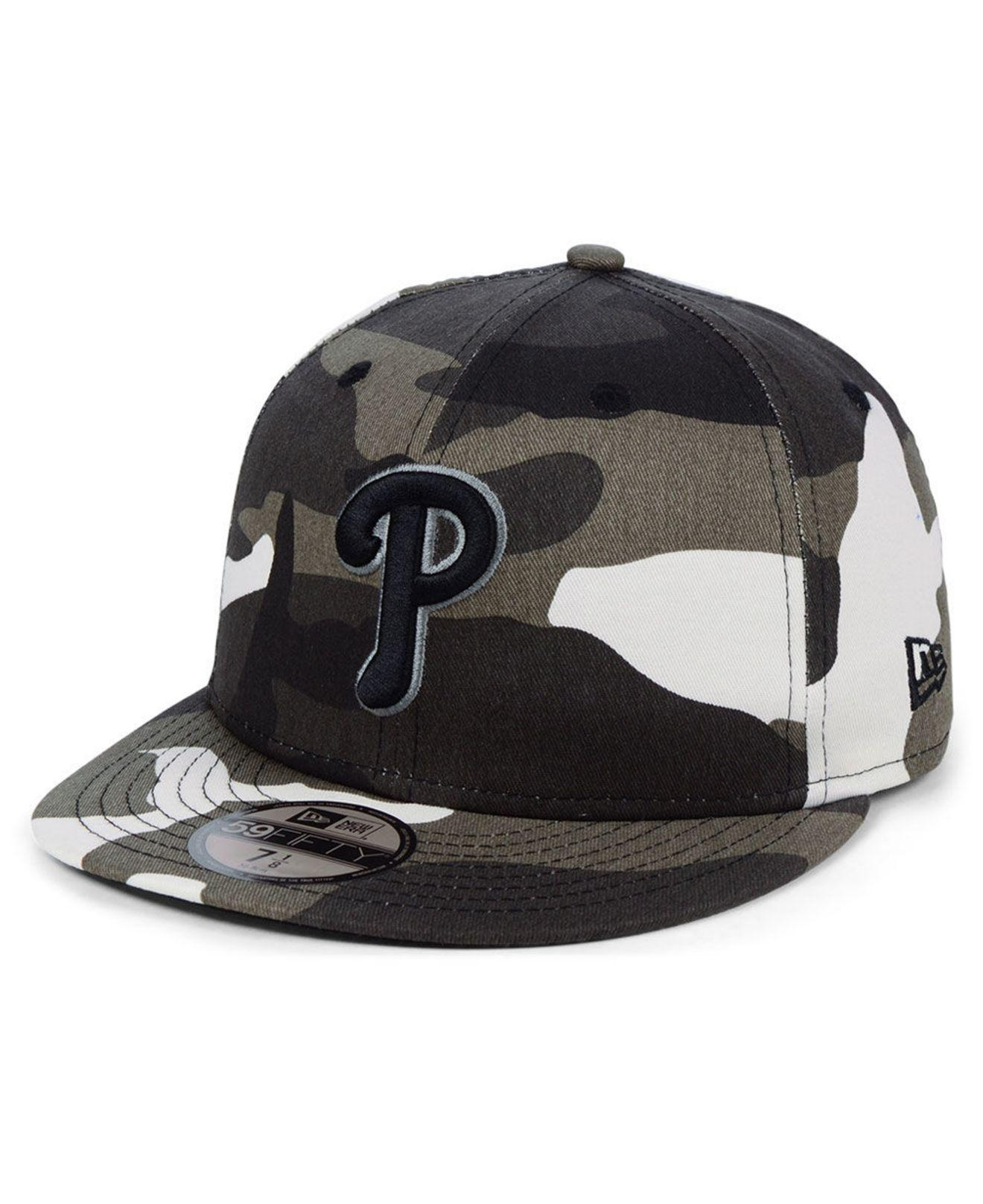best sneakers abbb4 4ce80 KTZ. Men s Black Philadelphia Phillies Fall Prism Pack 59fifty-fitted Cap