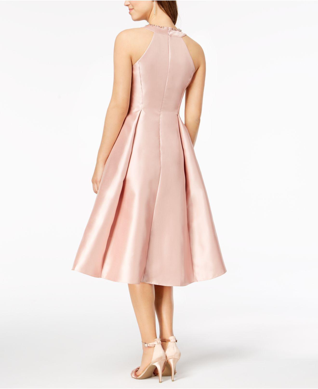 cb342c2fe9ba3 Lyst - Adrianna Papell Rhinestone High-low Dress in Pink