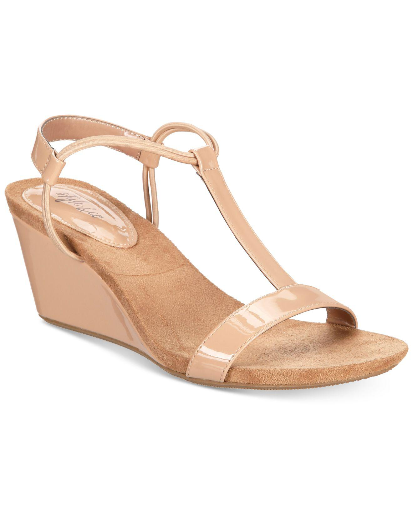 8c41479c563 Style   Co. Women s Natural Mulan Wedge Sandals ...