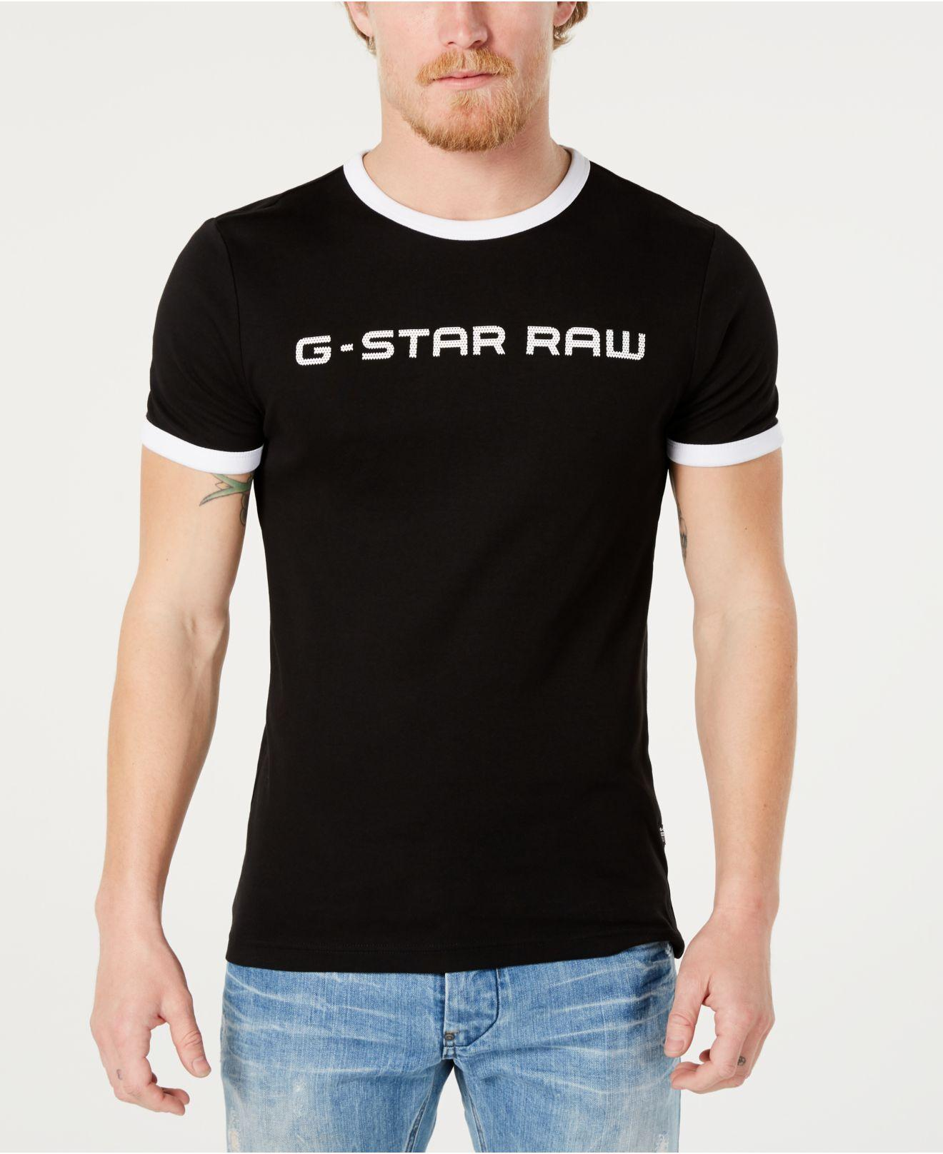 G-Star RAW Rodis Logo Graphic Ringer T-shirt, Created For