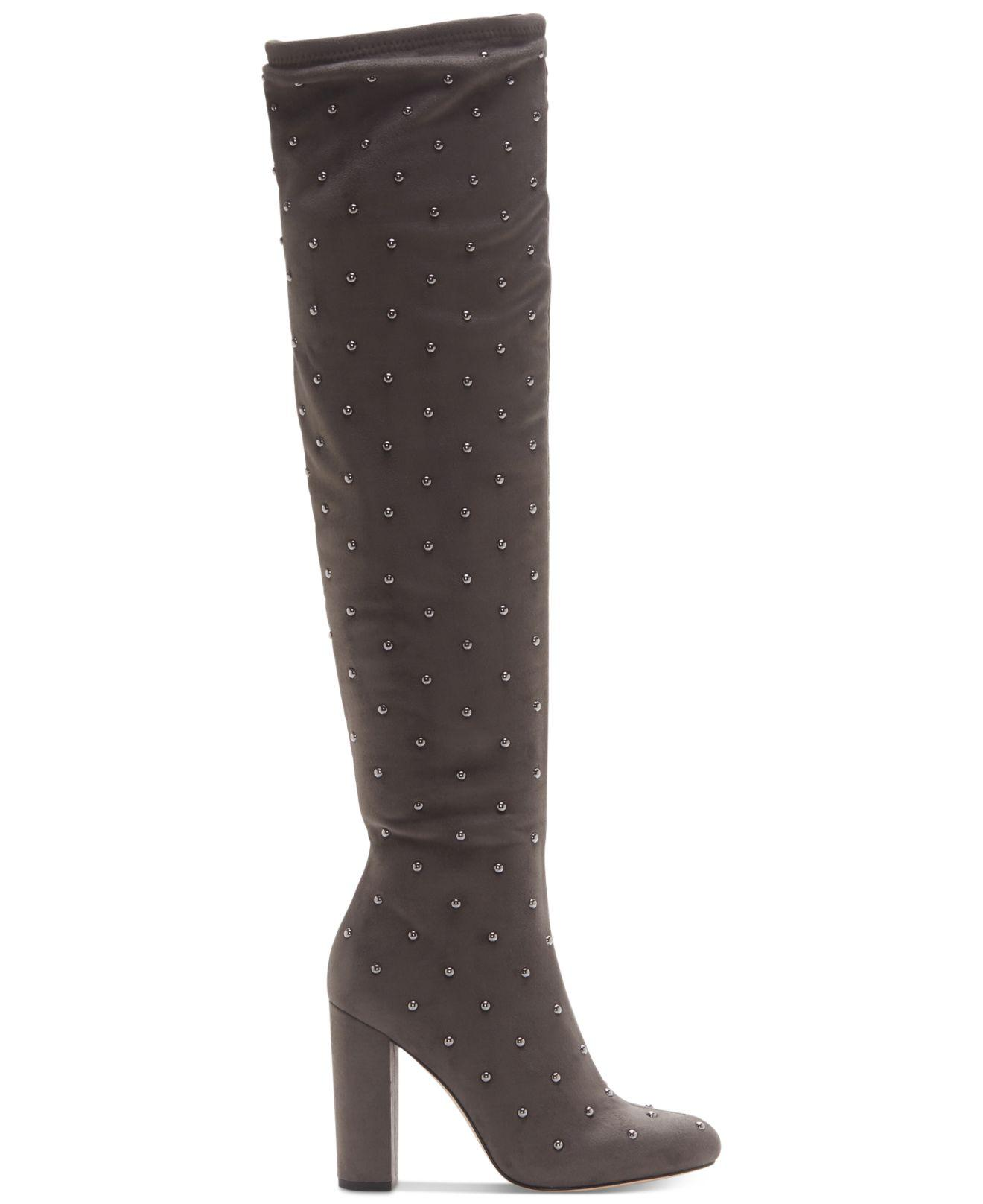 d3172ce9cd0 Lyst - Jessica Simpson Bressy Studded Over-the-knee Boots in Gray