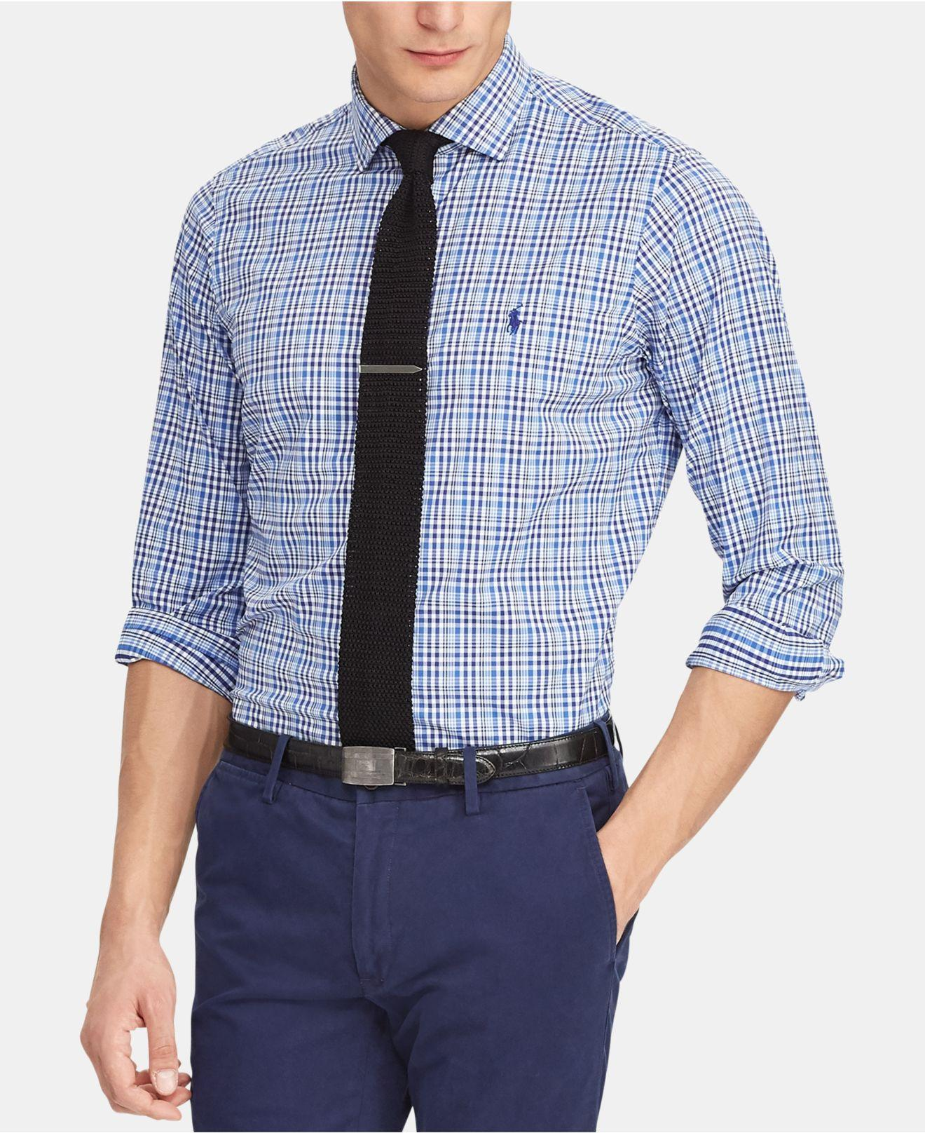 da2e2596fabe Lyst - Polo Ralph Lauren Classic-fit Performance Shirt in Blue for Men