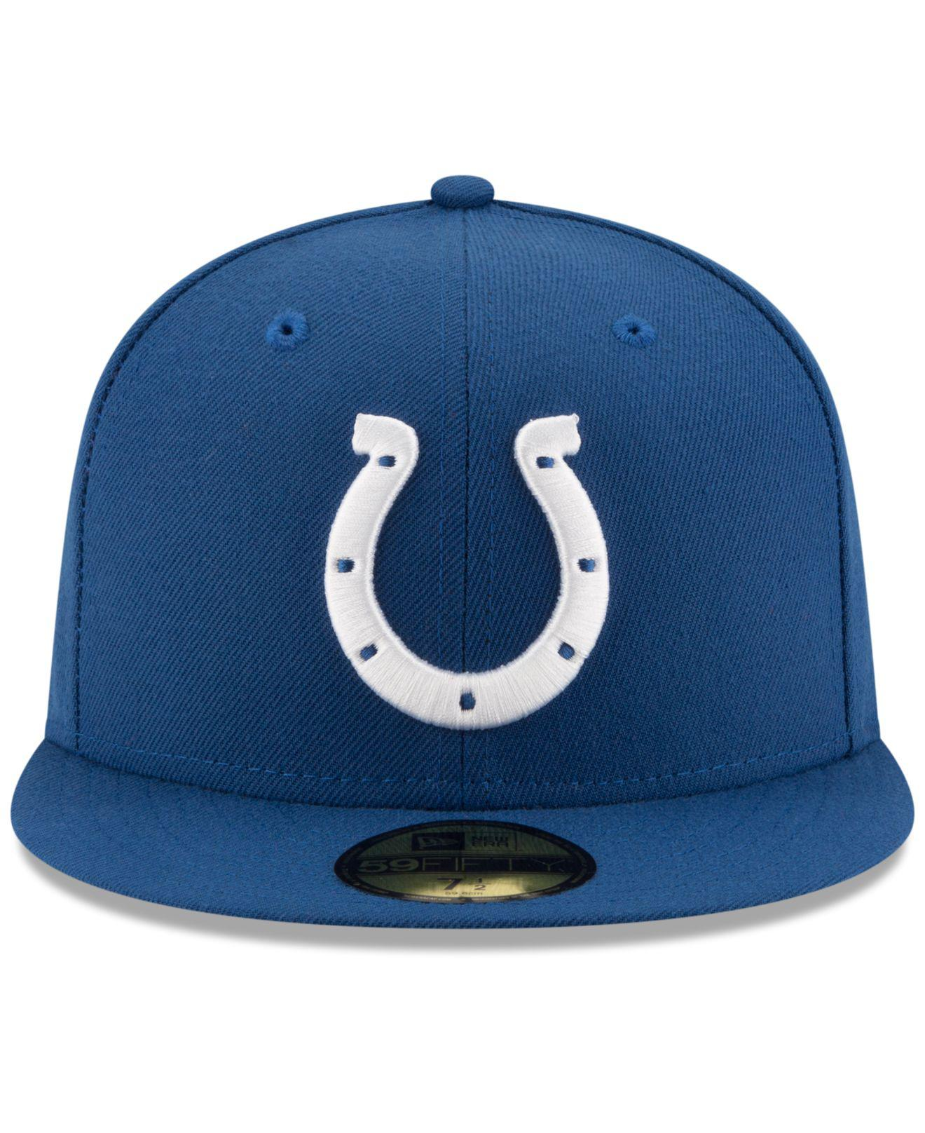 hot sales 79f7f 5ab3d Lyst - KTZ Indianapolis Colts Team Basic 59fifty Cap in Blue for Men