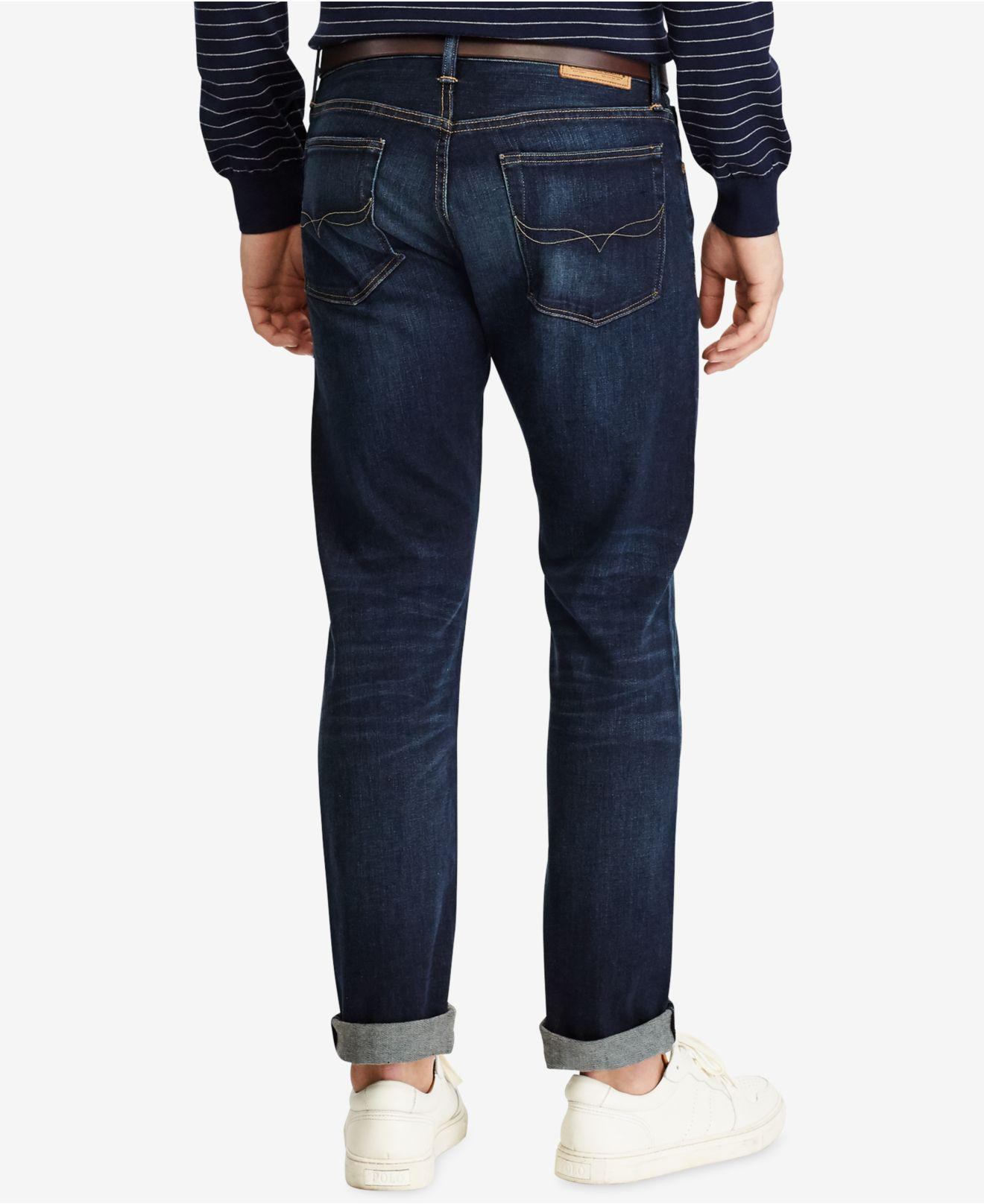 799382ba5 Lyst - Polo Ralph Lauren Big   Tall Hampton Relaxed Straight-fit Stretch  Jeans in Blue for Men - Save 31%