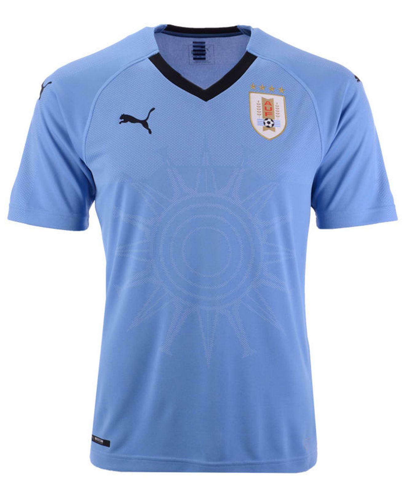 Lyst - Puma Uruguay Soccer National Team Home Jersey in Blue for Men e6b9a52e4
