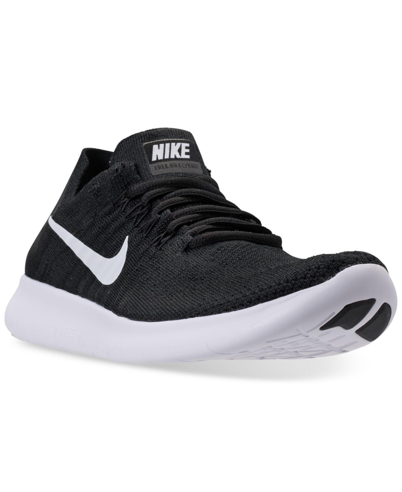 Nike. Black Women's Free Run Flyknit 2017 Running Sneakers From Finish Line