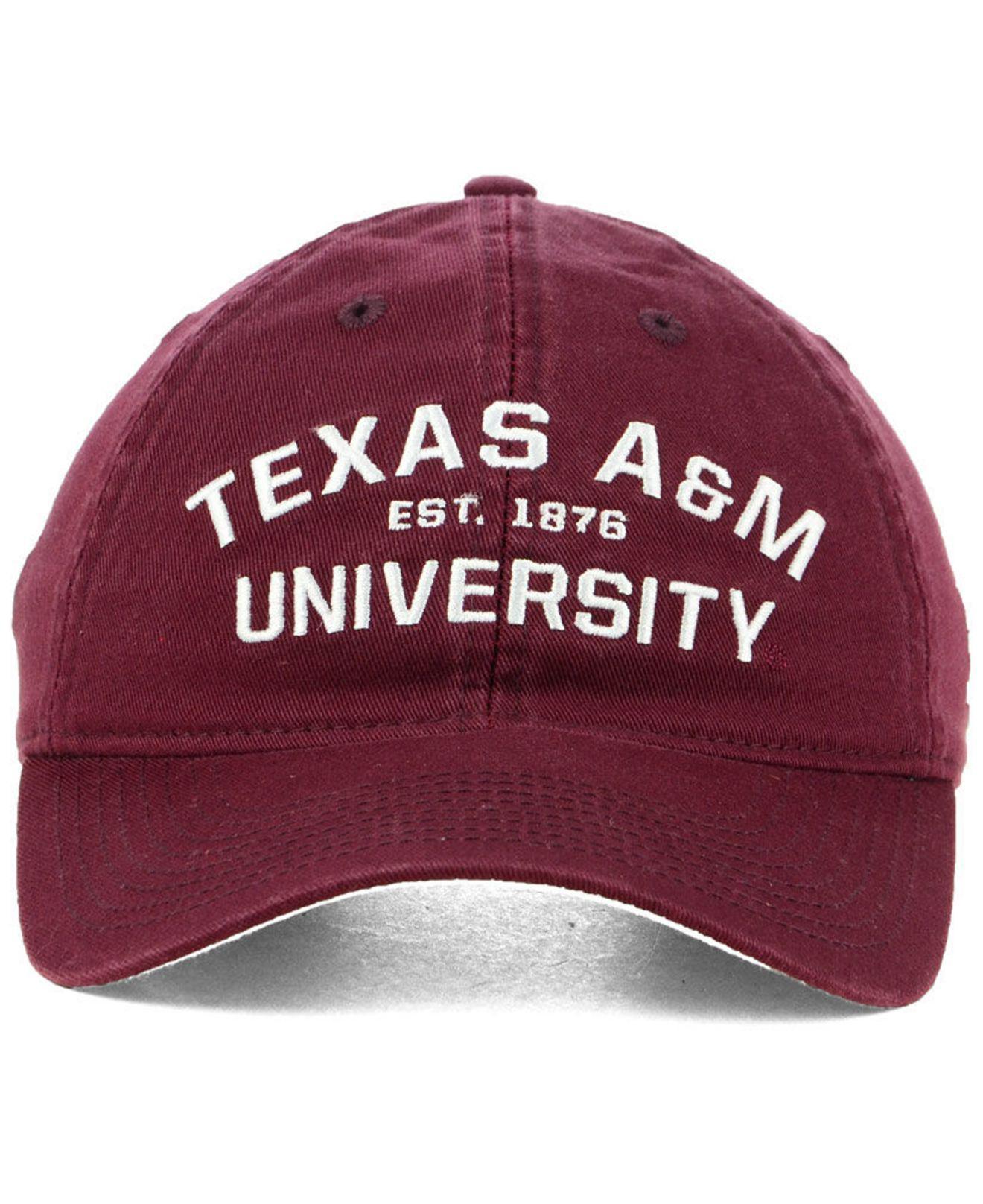 37046ae772a Lyst - Adidas Texas A m Aggies Stadium Performance Wordmark Adjustable  Strapback Cap in Red for Men