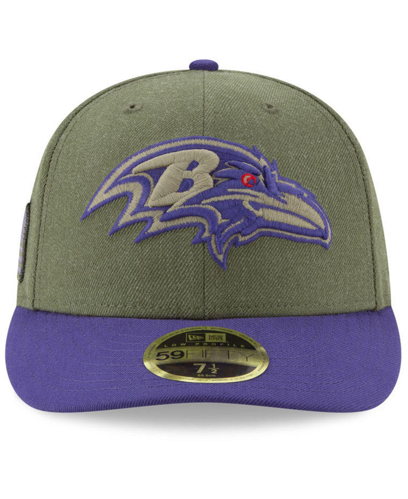 on sale db3b4 b9939 ... netherlands lyst ktz baltimore ravens salute to service low profile  59fifty fitted cap 2018 in green