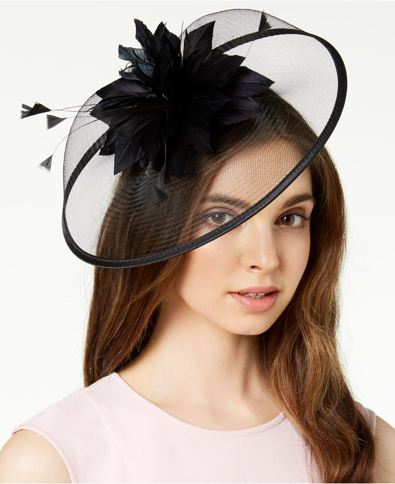 dfc28b8ee06b0 Lyst - August Accessories Jade Fascinator in Black