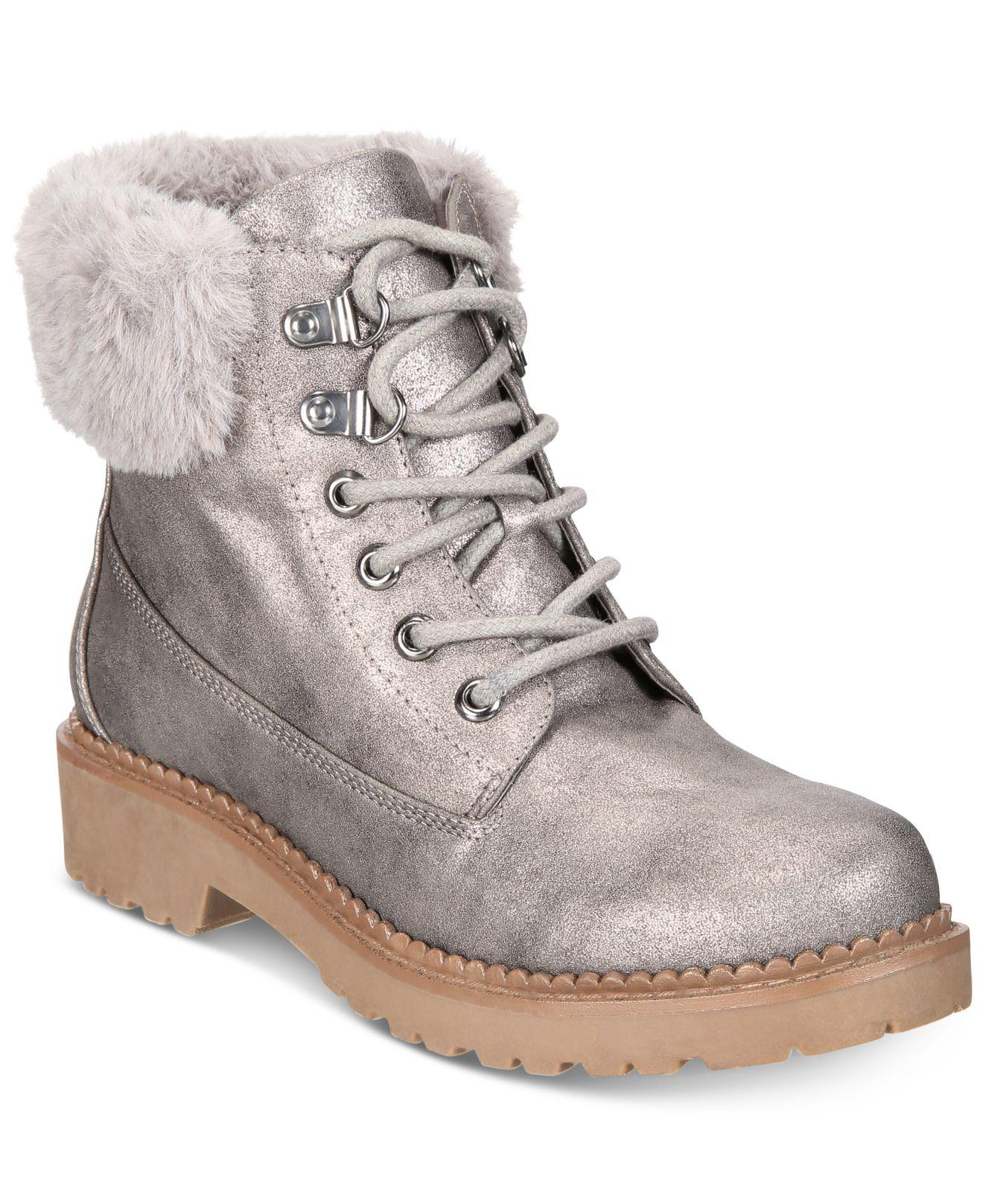 8ec48795c1fe Esprit Chelsea Memory-foam Cold-weather Boots in Gray - Lyst