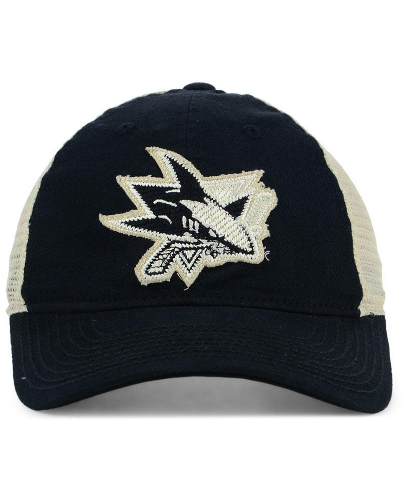 f5217732d30ab ... low price lyst adidas san jose sharks sun bleached slouch cap in black  for men bb7dd