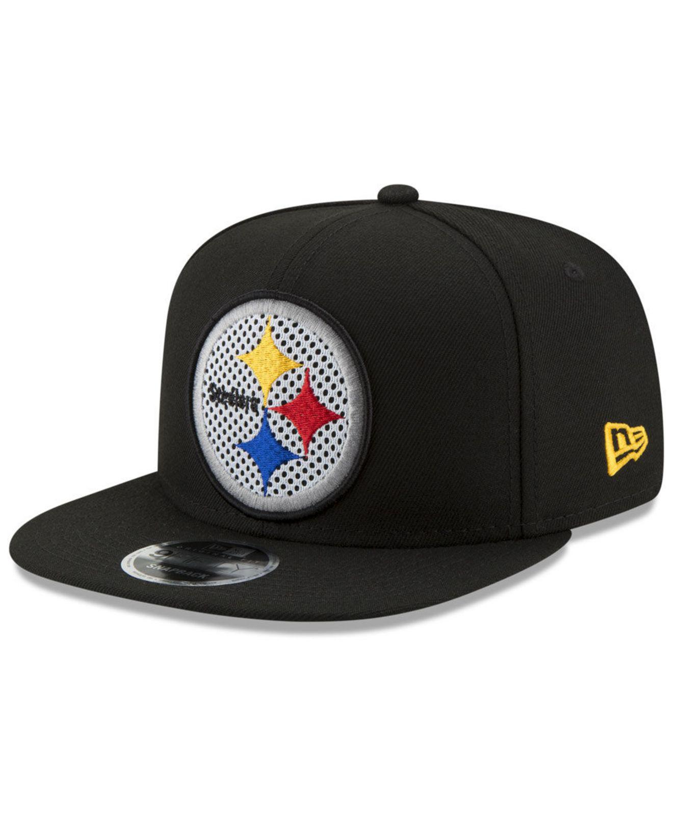 a6bea3d000e Lyst - KTZ Pittsburgh Steelers Meshed Mix 9fifty Snapback Cap in ...