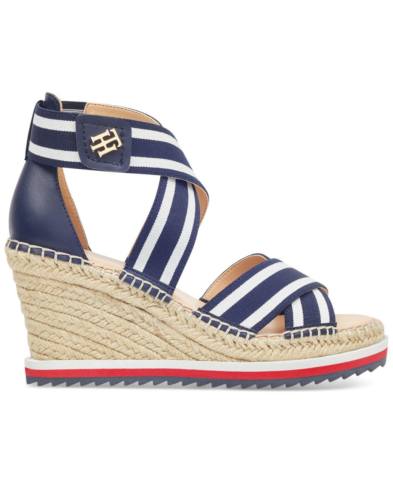 6d09b14d9 Lyst - Tommy Hilfiger Yesia Espadrille Platform Wedge Sandals