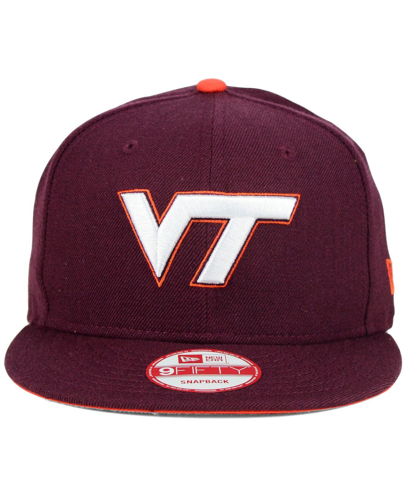 new style 36519 5d21a ... coupon code for lyst ktz virginia tech hokies core 9fifty snapback cap  in purple for men