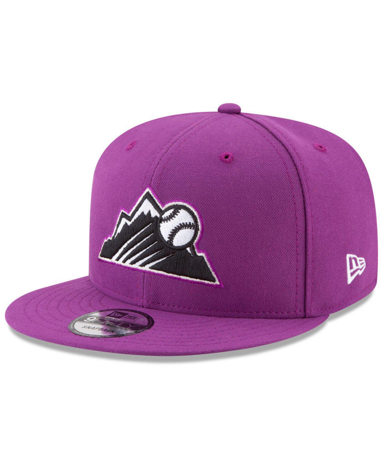 size 40 8a340 95831 KTZ Colorado Rockies Players Weekend 9fifty Snapback Cap in Purple ...