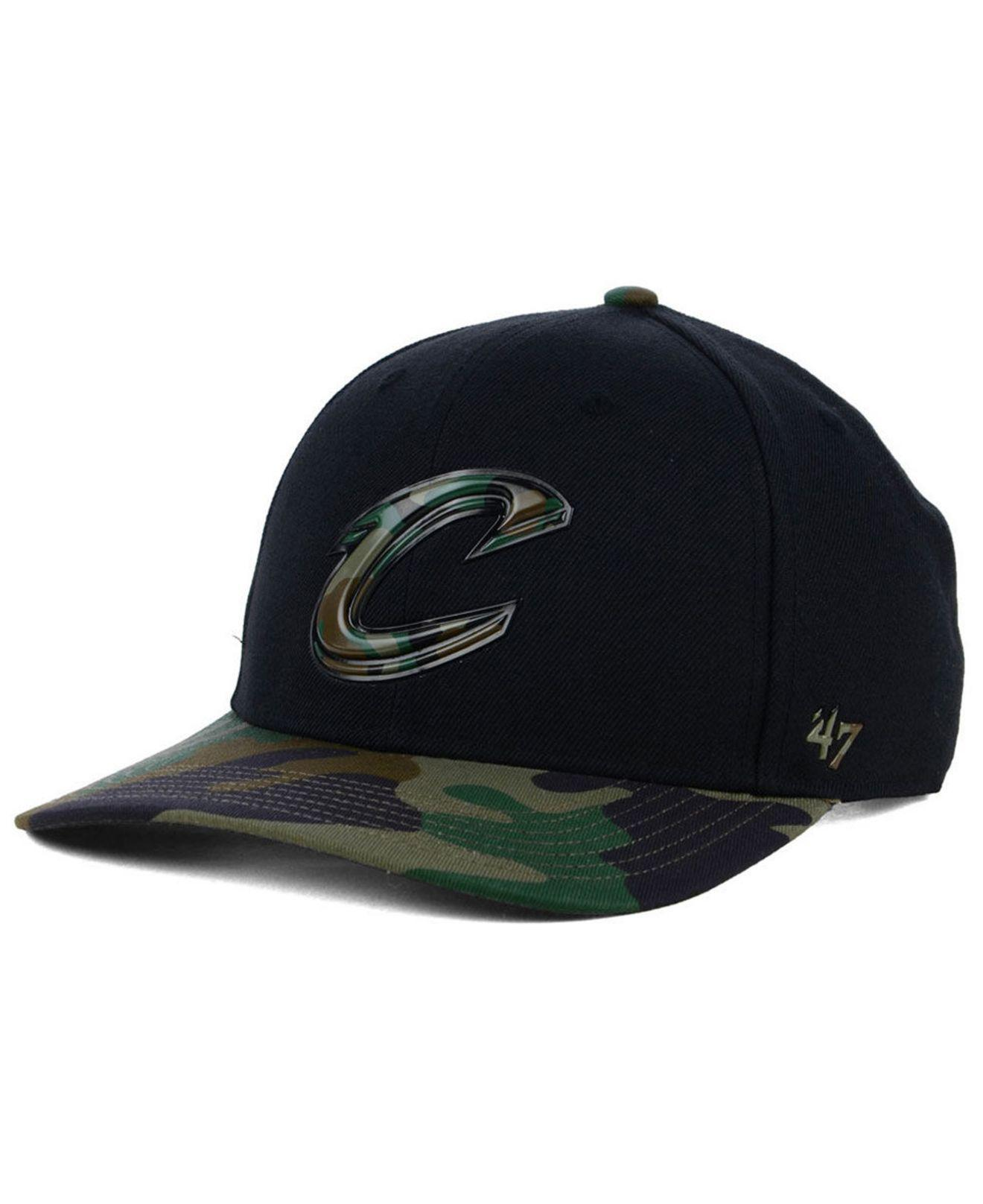 6a5f7f82a7e Lyst - 47 Brand Cleveland Cavaliers Caster Camo Mvp Cap in Black for Men