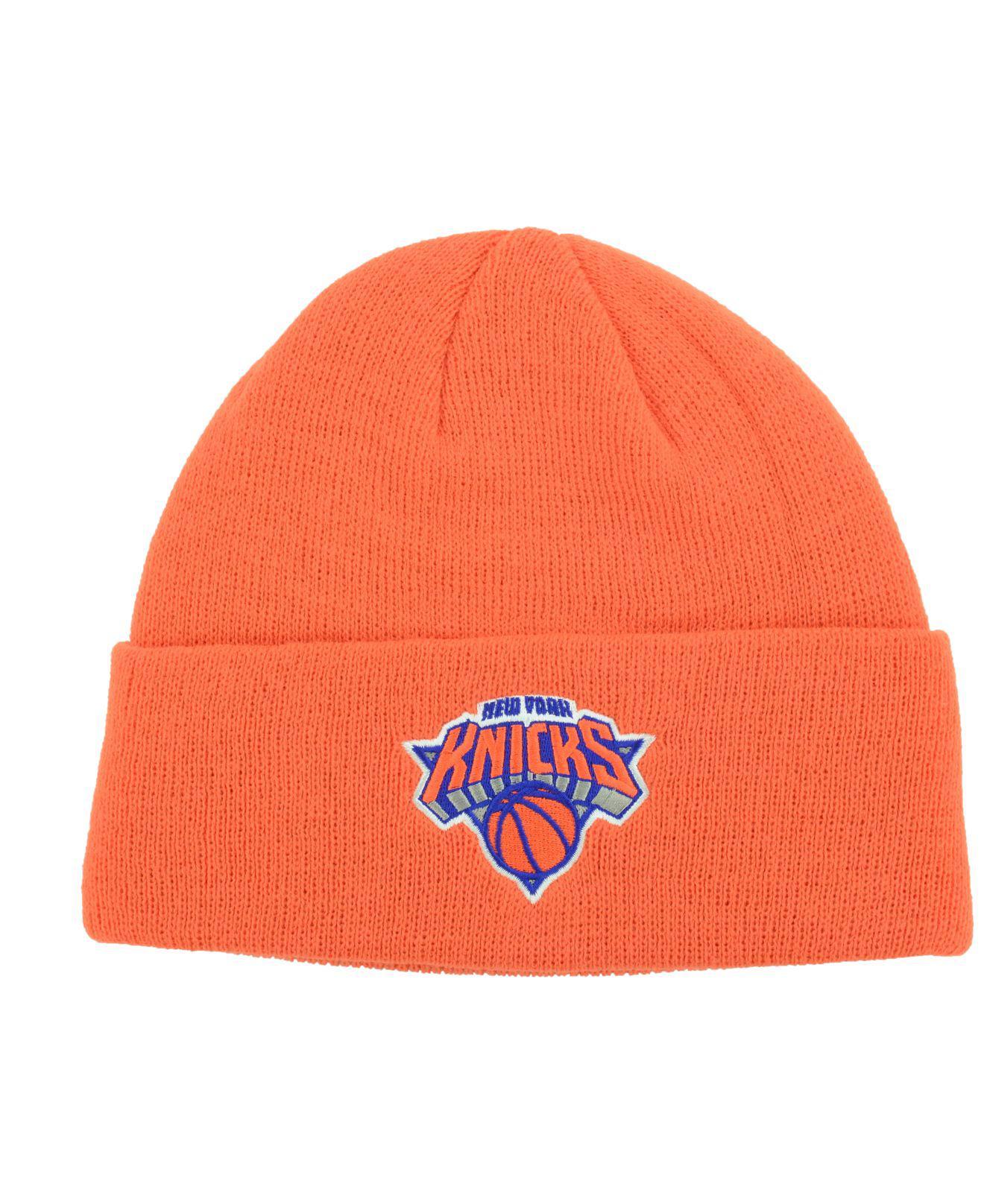 50144c15fbc5ce Lyst - adidas New York Knicks Cuff Knit Hat in Orange for Men