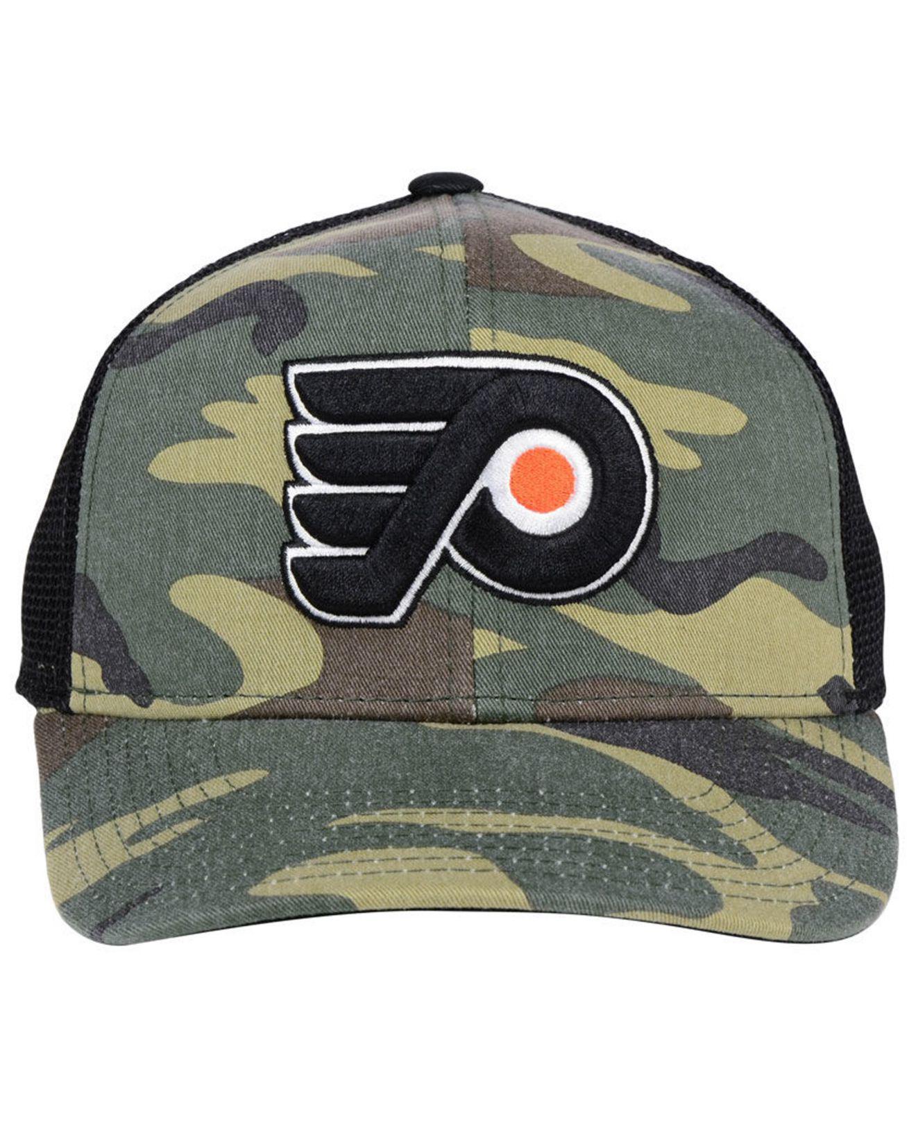 ef53daf94ce Lyst - adidas Philadelphia Flyers Camo Trucker Cap for Men
