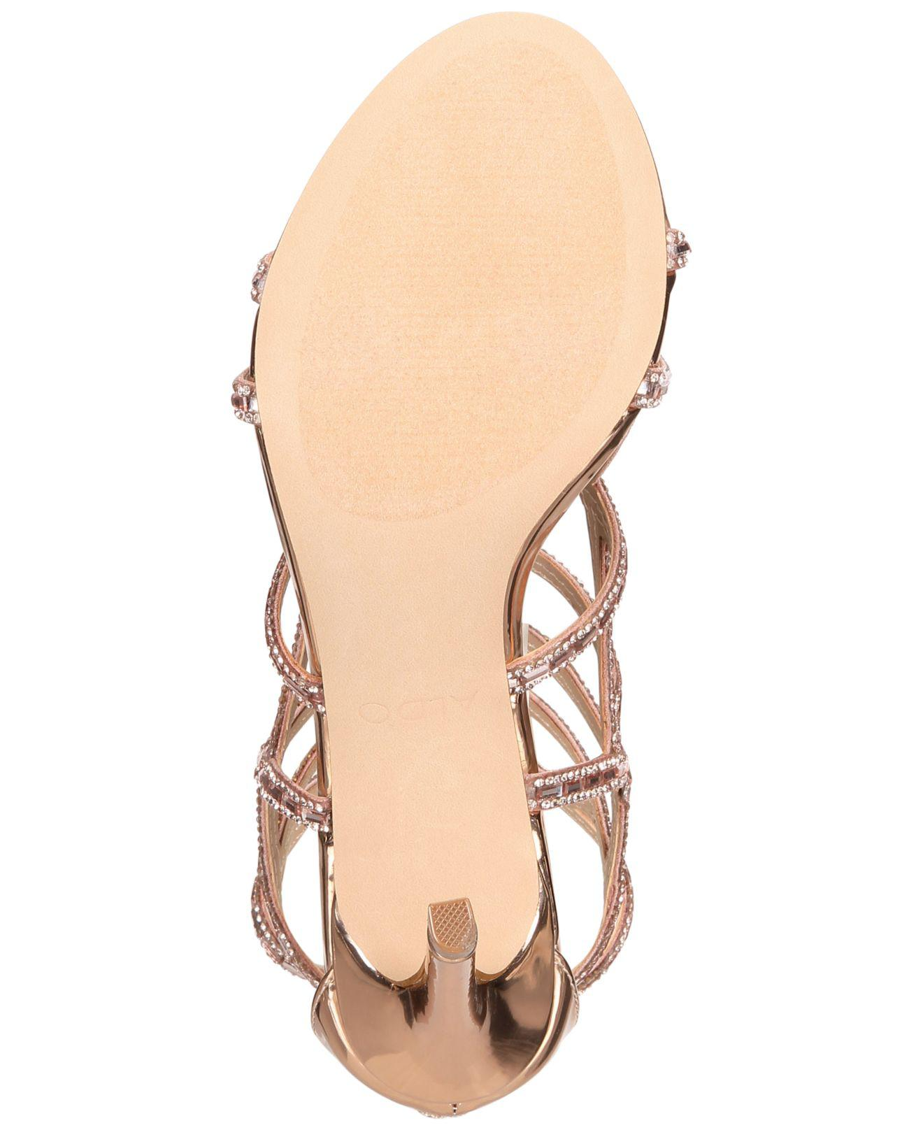 f0e8ea438442bb Gallery. Previously sold at  Macy s · Women s Gold Sandals ...