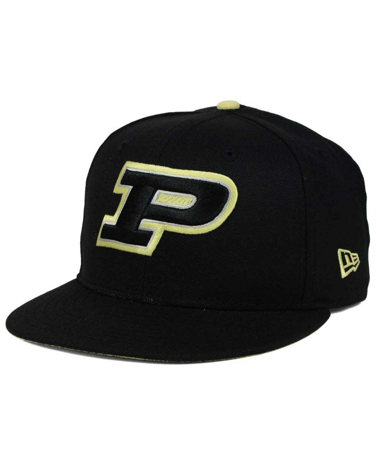 timeless design 1373f e1cdb KTZ - Black Purdue Boilermakers Core 9fifty Snapback Cap for Men - Lyst. View  fullscreen