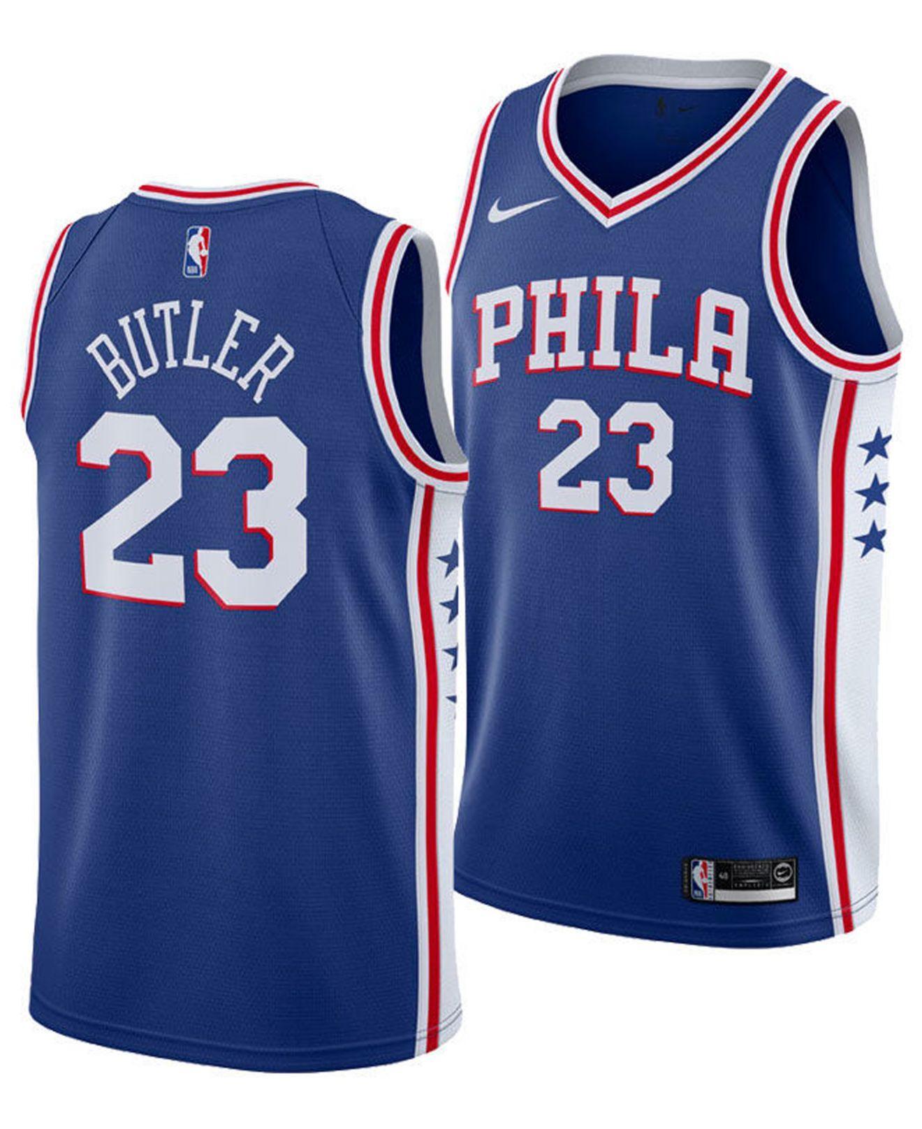f28da14599e2 Lyst - Nike Jimmy Butler Philadelphia 76ers Icon Swingman Jersey in ...