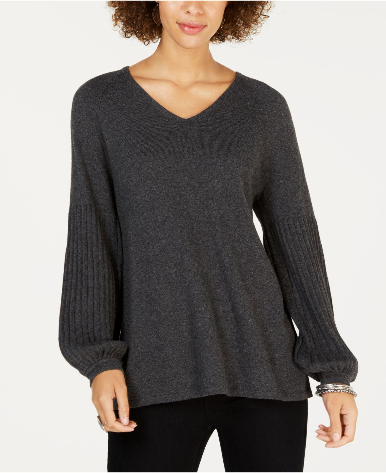 f529c4170a Style   Co. Women s Petite Bishop-sleeve Sweater ...