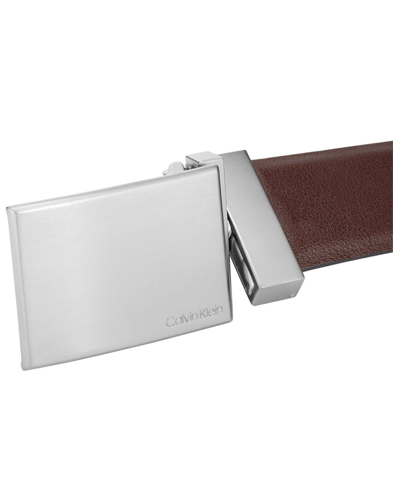 Lyst - Calvin Klein 4-way Reversible Boxed Belt Set in Brown for Men f28c025abe