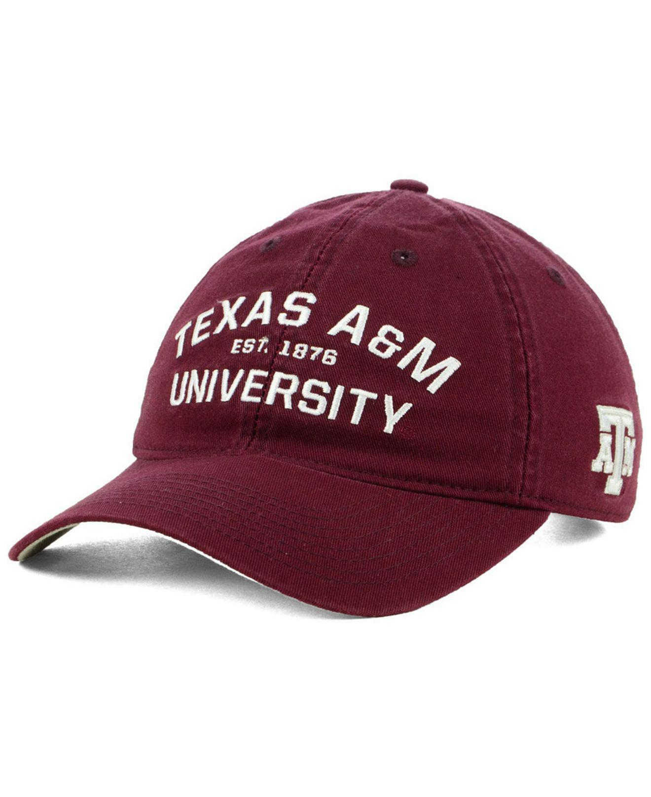 23a911ecbad adidas. Men s Red Texas A m Aggies Stadium Performance Wordmark Adjustable  Strapback Cap