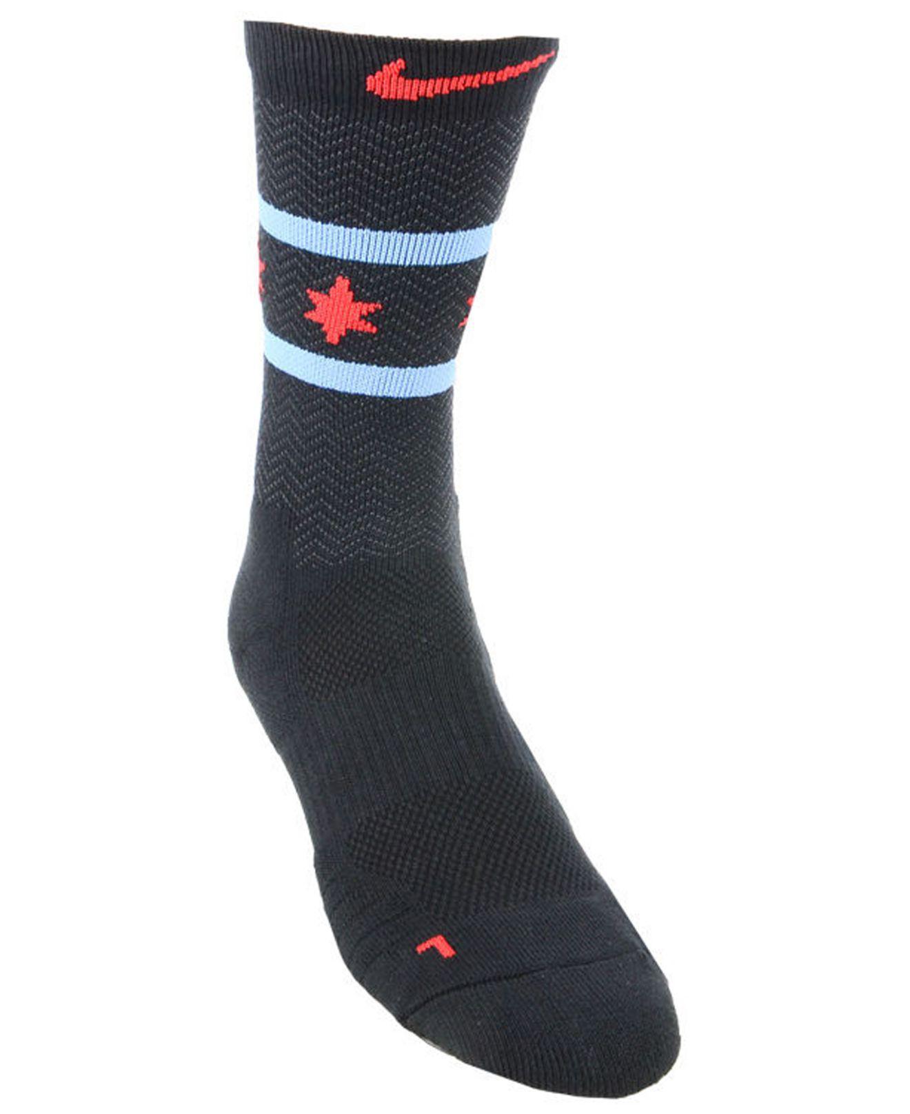 3ad3ee092 Lyst - Nike Chicago Bulls City Edition Elite Crew Socks in Black for Men
