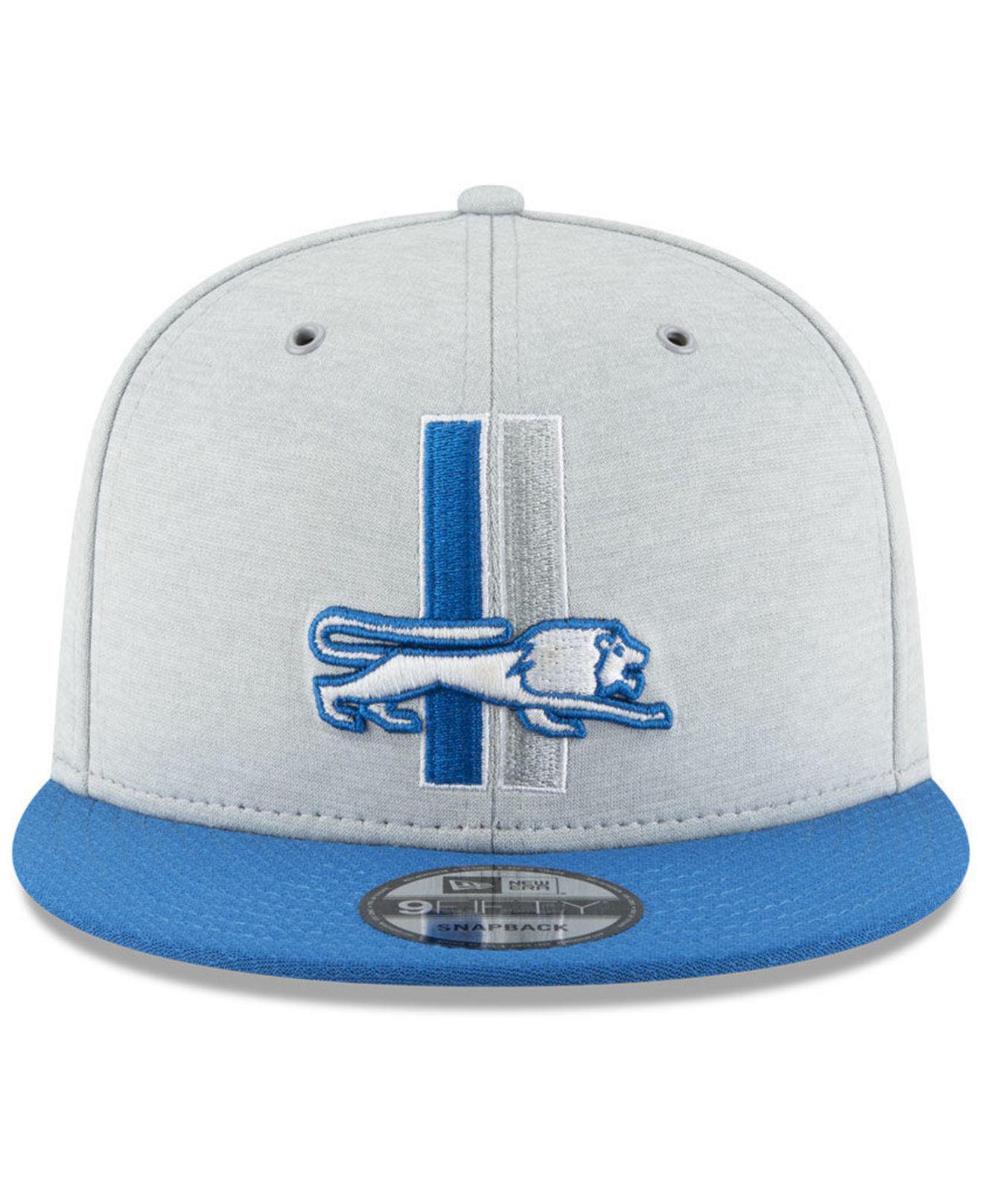 24407e120 Lyst - Ktz Detroit Lions On Field Sideline Home 9fifty Snapback Cap in Blue  for Men