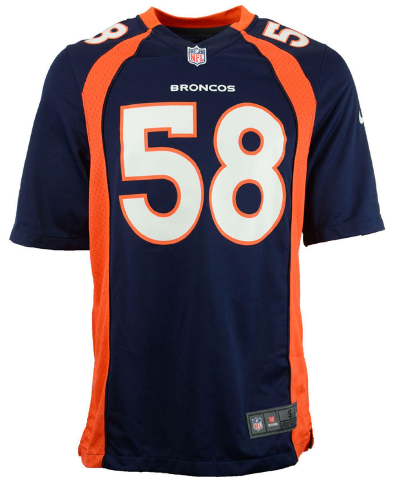 9c92aec3d Lyst - Nike Men s Von Miller Denver Broncos Game Jersey in Blue for Men