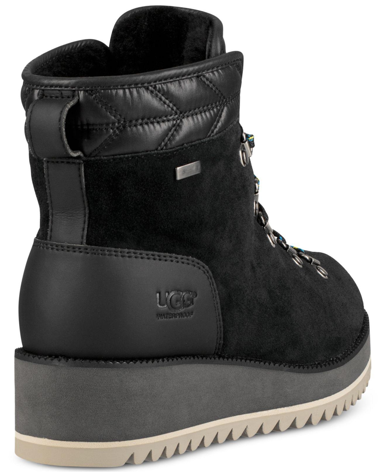bd5cb3ef322 Lyst - UGG Birch Lace-up Boots in Black