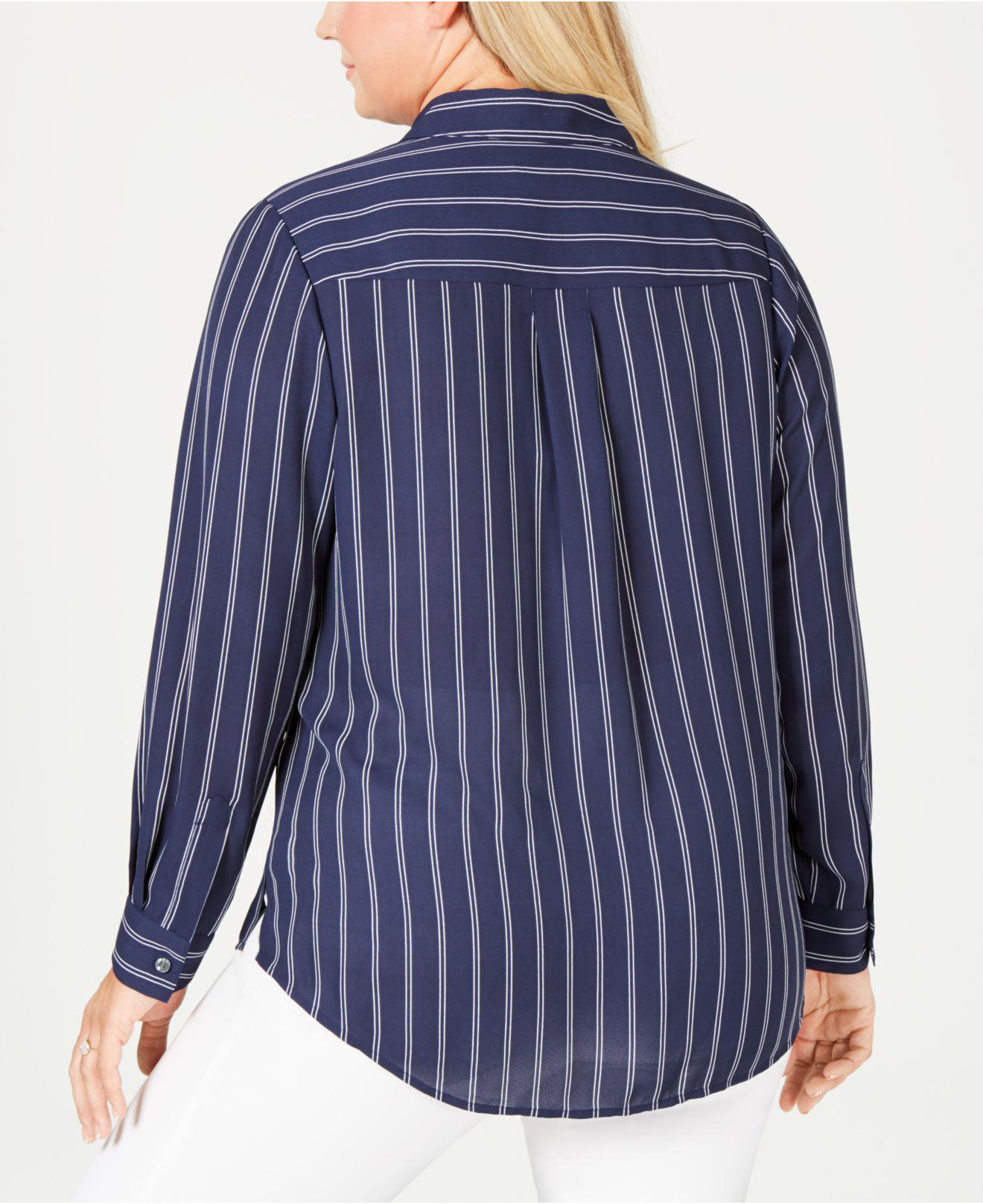 230eaa888d8 Lyst - Charter Club Plus Size Striped Shirt