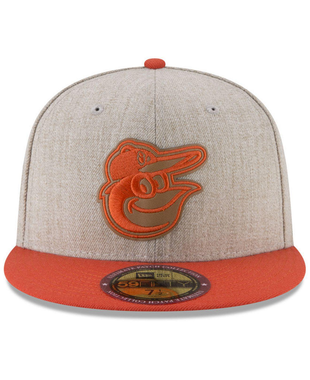 cf0f70a1417 Lyst - KTZ Baltimore Orioles Leather Ultimate Patch Collection 59fifty  Fitted Cap for Men