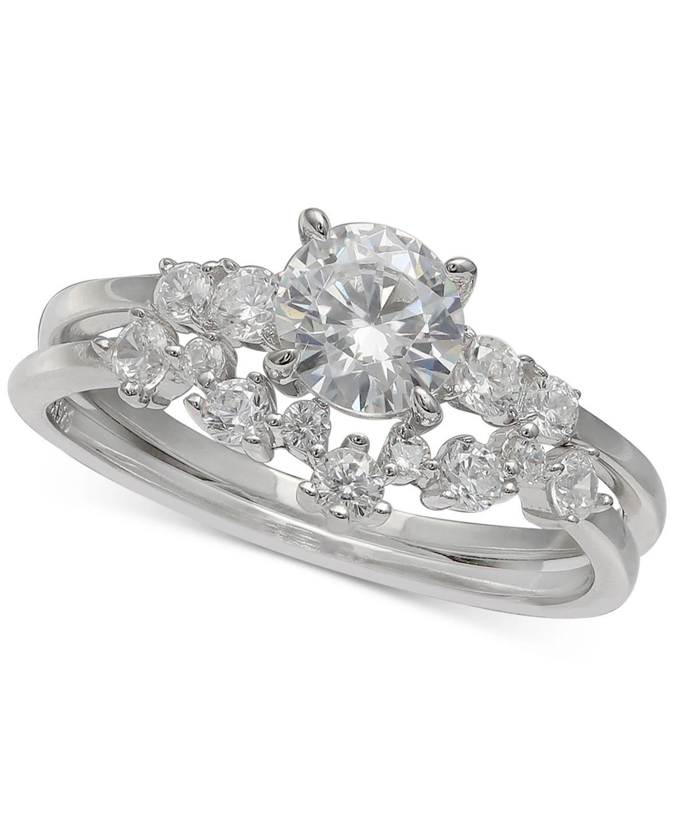 cb8ba267619e6 Lyst - Giani Bernini Cubic Zirconia Bridal Set In Sterling Silver ...