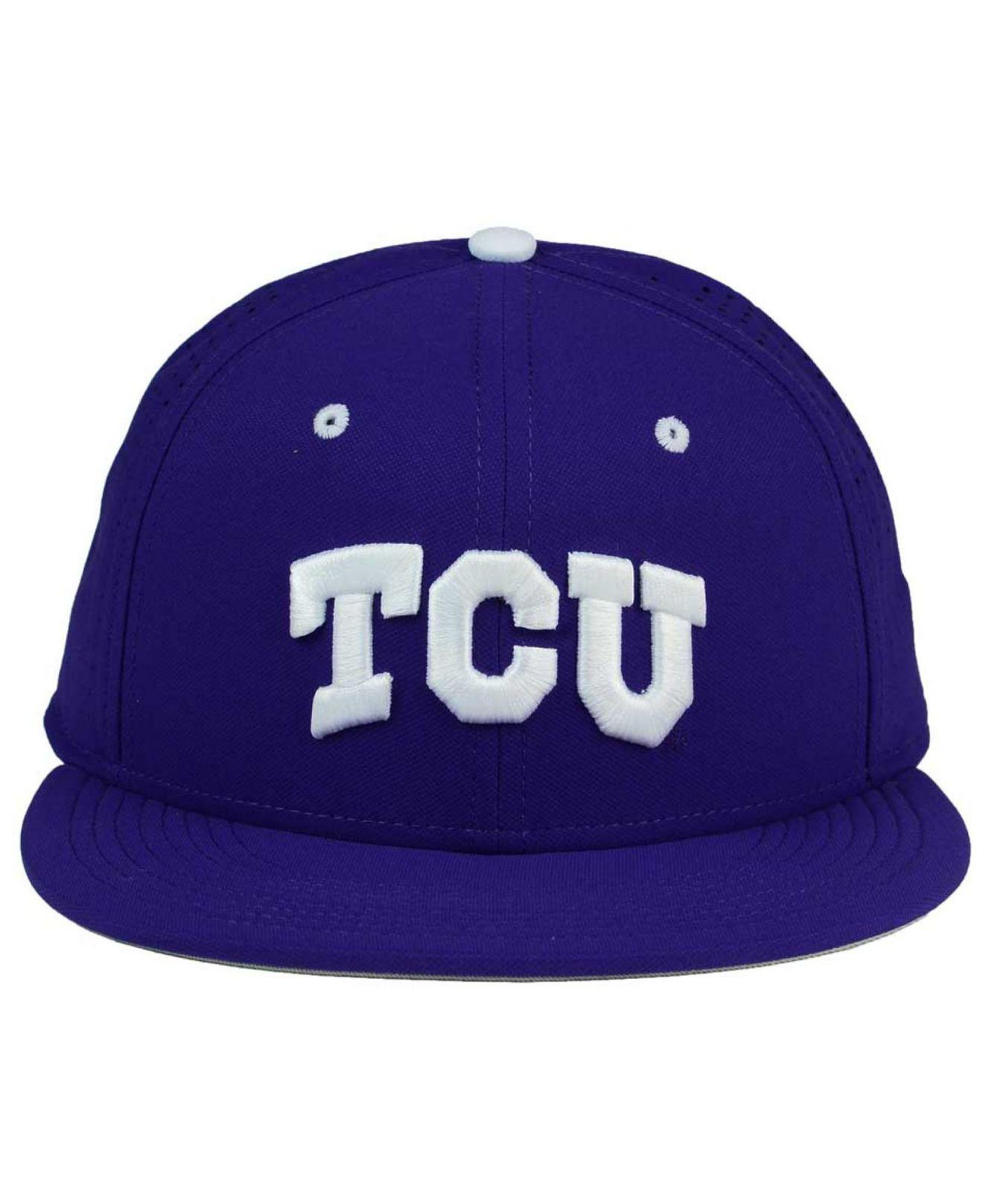 cac1f9f6cee5b ... buy lyst nike tcu horned frogs true vapor fitted cap in purple for men  save 42.857142857142854