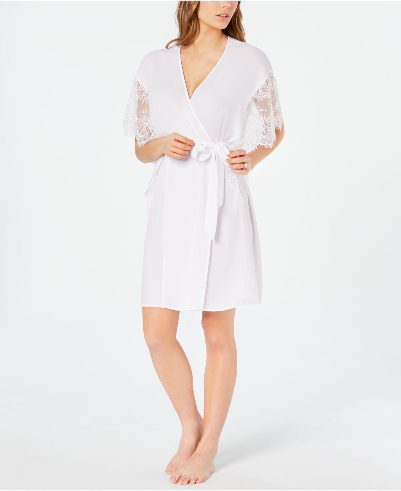 ea7e4d8378bf7 Lyst - INC International Concepts I.n.c. Lace-sleeve Chiffon Wrap ...