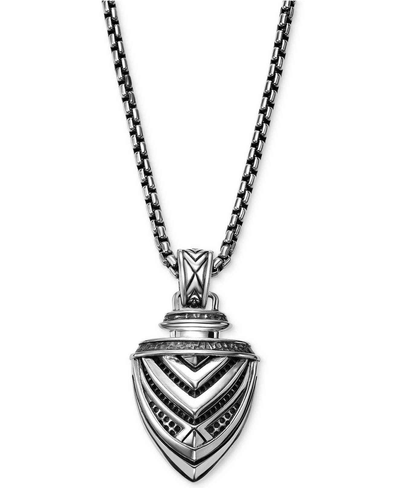 6c244a17afcdf3 Scott Kay Men's Arrow Pendant Necklace In Sterling Silver in ...