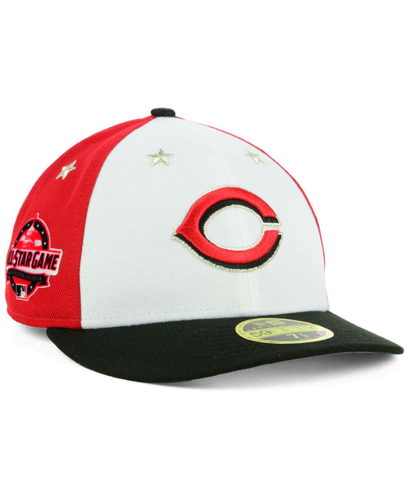 super popular 6e21b b76ec ... denmark ktz. mens cincinnati reds all star game patch low profile  59fifty fitted cap 2018