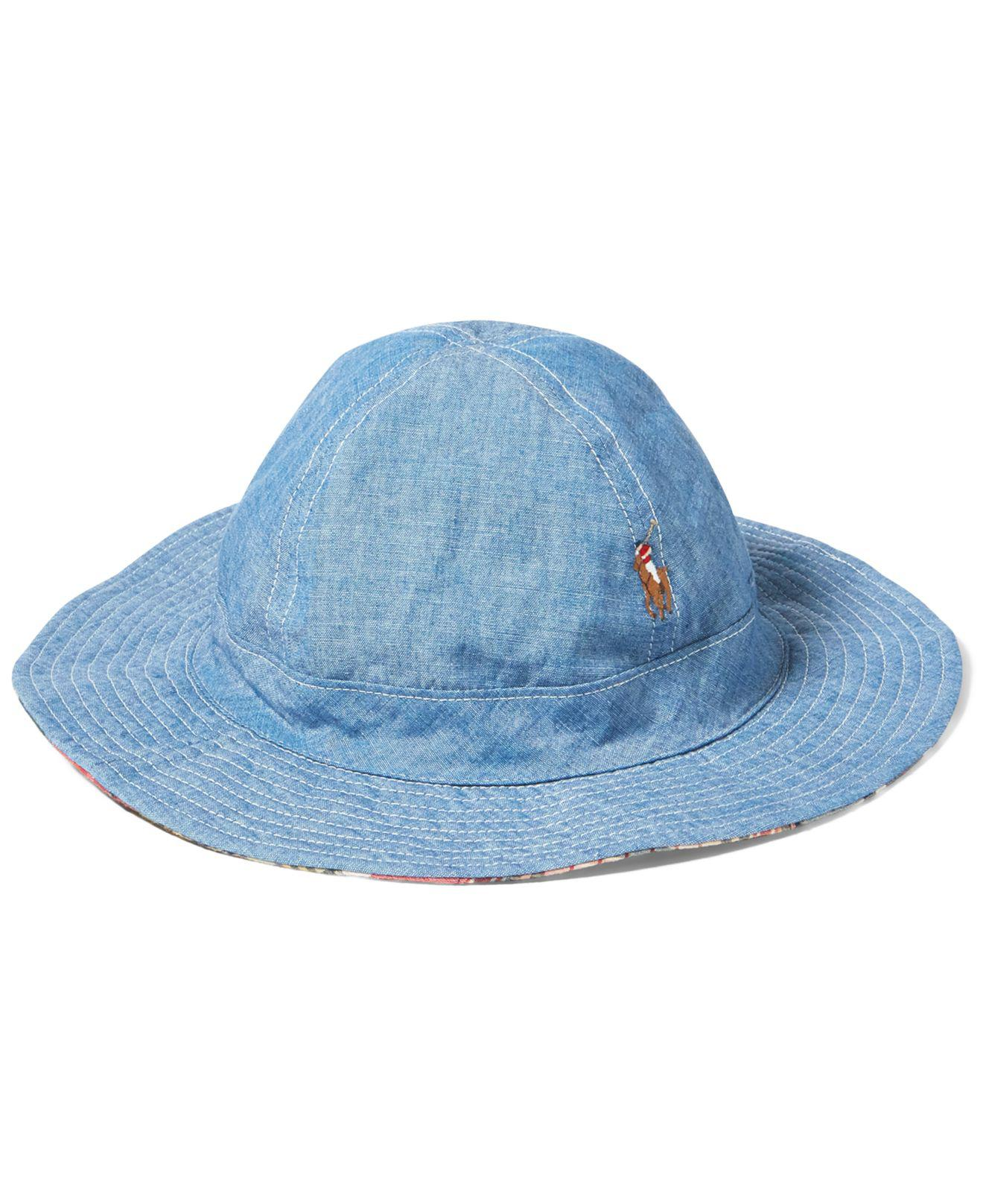 249b6d8c8ab ... outlet on sale edddb 30569 Lyst - Polo Ralph Lauren Mens Reversible  Cotton Bucket Hat i ...