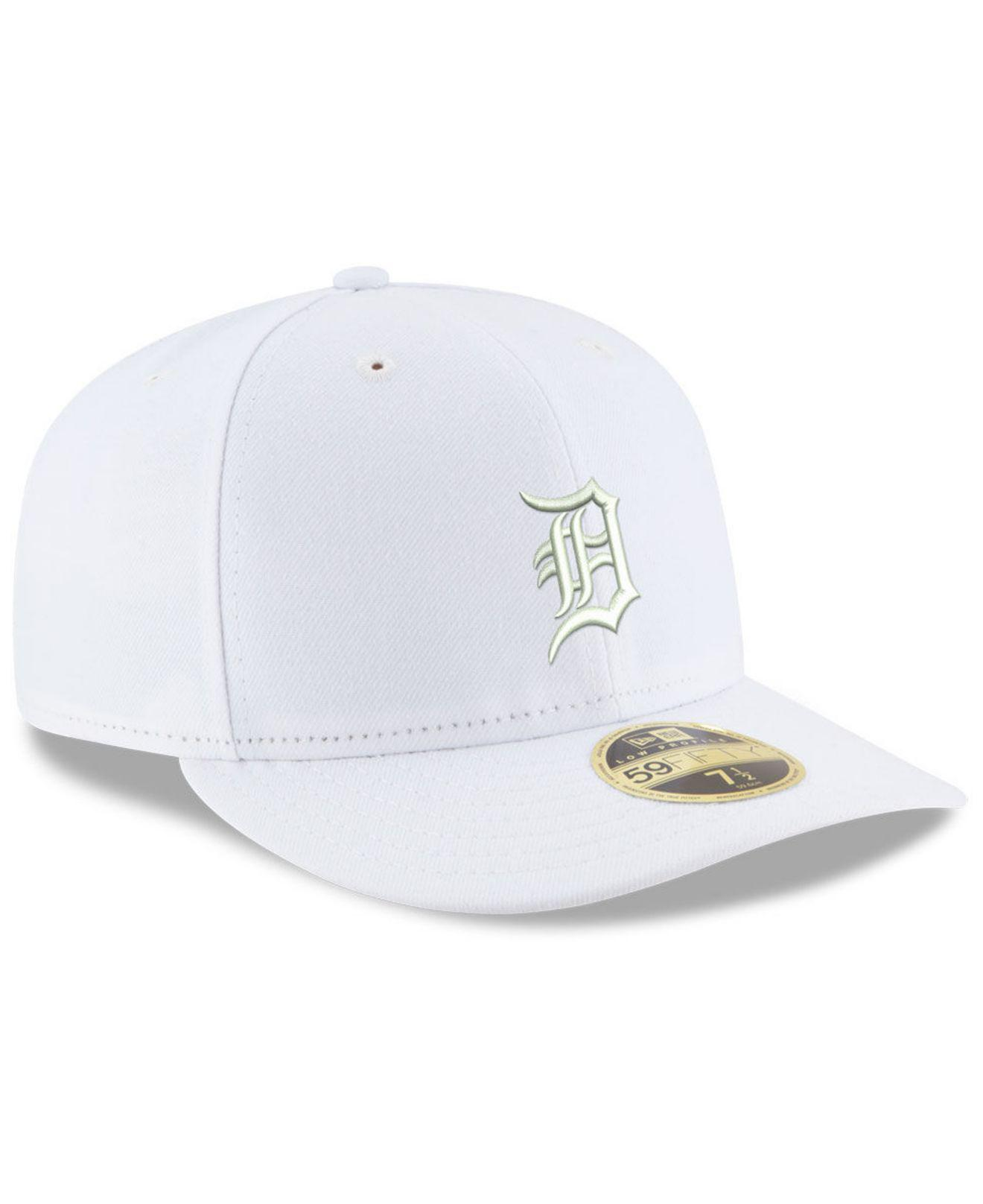 reputable site b1bb8 02113 KTZ Detroit Tigers Triple White Low Profile 59fifty Fitted Cap in ...