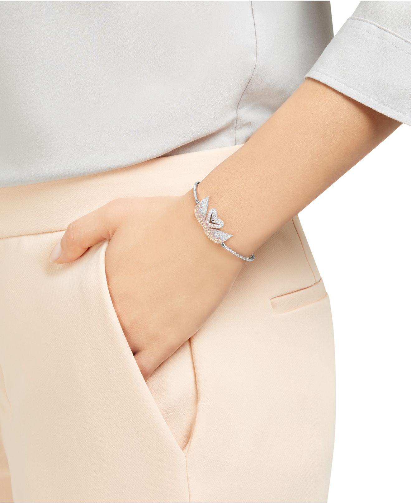 24e7cf4a2ed19 Lyst - Swarovski Iconic Swan Bracelet in Metallic - Save 25.443786982248525%
