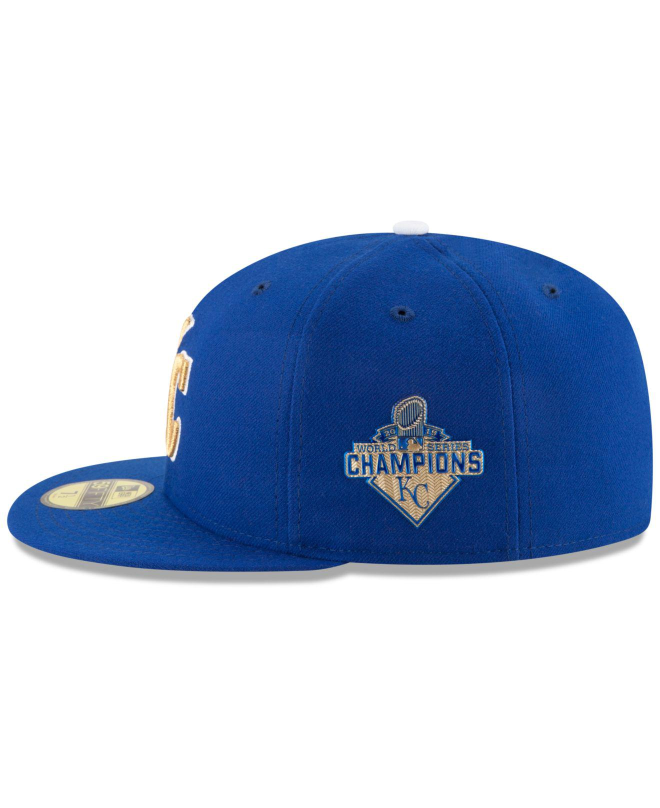 2ed08f7ffd1 ... usa kansas city royals 2015 world series commemorative gold ac 59fifty  cap for men. view ...